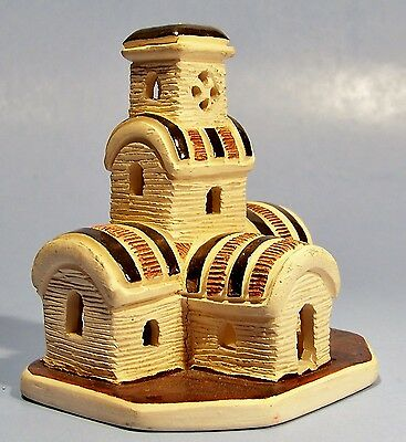 Rare Uruguay Church Souvenir Building Miniature Ceramic Replica South America