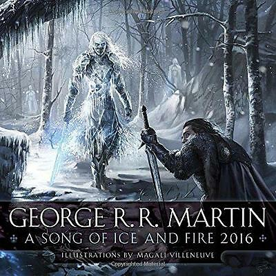 2016 A Song of Ice and Fire Wall Calendar 9780345537973 New & Sealed