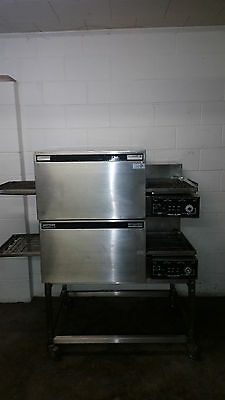 Lincoln Impinger 1103 Double Stack Conveyor Pizza Ovens Tested 120/240 Volt Oven