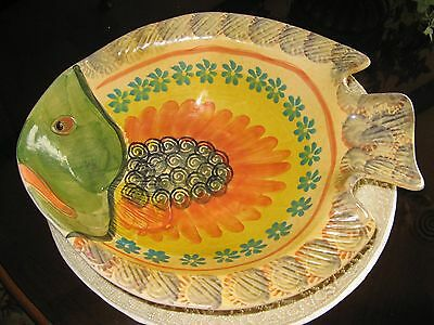 Large  Fish Platter Serving Dish Bowl  Made In Italy