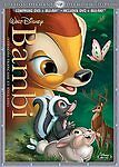 Bambi (Blu-ray/DVD, 2011, 2-Disc Set, Diamond Edition) NEW Sealed w/Slipcover