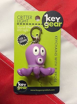 OCTOPUS key chain light and sound GIFT emergency gear KEYGEAR survival kit fun