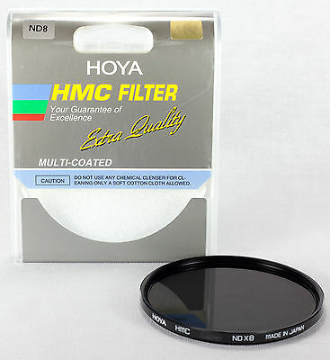 Hoya HMC 49mm ND-8 (0.9) Multi-Coated Neutral Density Filter A-49ND8-GB