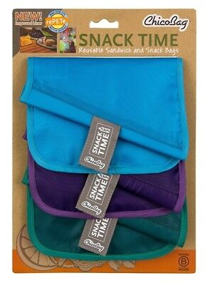 Chico Snack Time RePETe Bags Blue Purple Green 3 Color Set