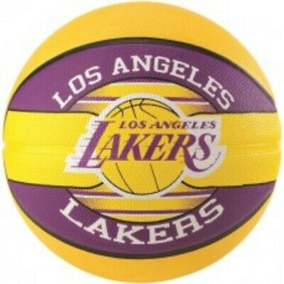 Spalding LA Lakers Equipo Baloncesto Tamaño 7 Adulto Exterior Official