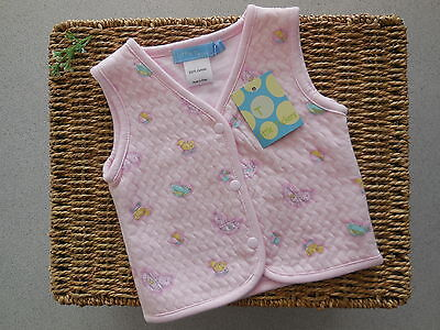 Little Tackers Baby Girl Pink Vest Size 0000 Newborn *new
