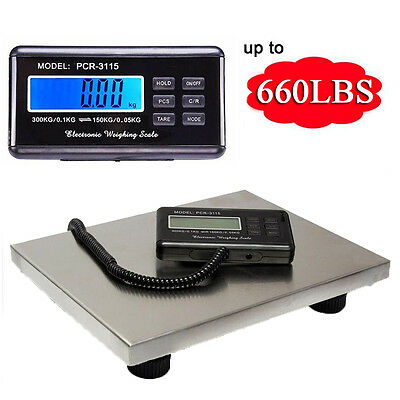 US - Commercial Scales Digital Platform Postal Scale Electronic Weight 0.1-300KG