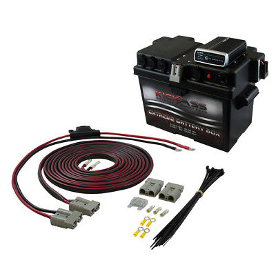 Dual Battery DC Charger Isolator + Box Suit 120AH AGM + Wiring Kit + Solar MPPT