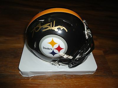 Antonio Brown Signed Pittsburgh Steelers Speed Mini Helmet Autographed Coa Auto
