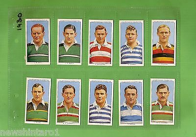 #d221.  1935  Rugby Internationals Cigarette Cards, Full Set