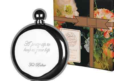 Ted Baker Opulent Bloom Stainless Hip Flask A Pretty Sip To Keep At Your Hip NEW