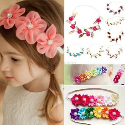 Kids Girls Baby Toddler Flower Headband Hair Band Accessories Princess Headwear