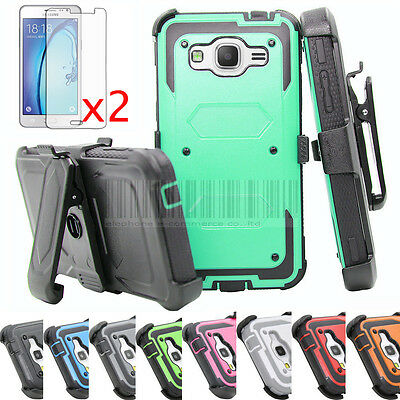 For Samsung Galaxy On5 Armor Shockproof Hybrid Rubber Holster Phone Case Cover