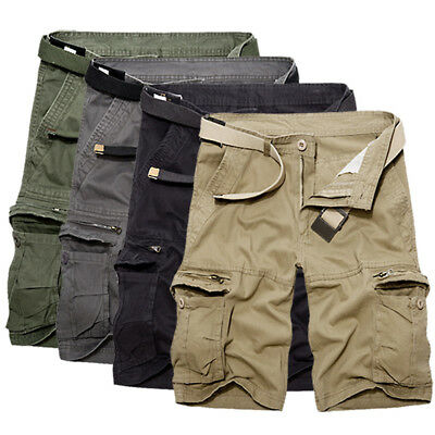 NEW Fashion Mens Cargo Pants Shorts Trousers Casual Military CAMO Combat Army UK