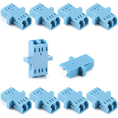 Lot of 10pcs LC-LC Duplex Fiber Optic Adapter Connector Coupler Multimode MM DUP