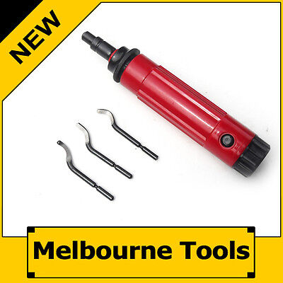 Deburring Tool Set, Quick Release Swivel Head, 3PC Shape Replacement Blades
