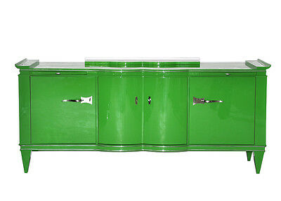 Exclusive and unique Art Deco Sideboard in Bilious green