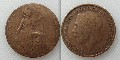 Collectable 1918 King George V Half-Penny