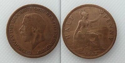 Collectable 1936 King George V Half-Penny Lot 1
