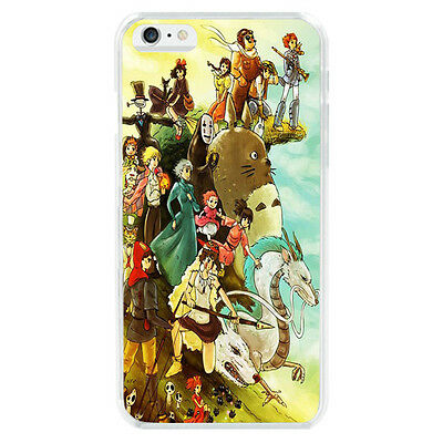 Studio Ghibli Characters All Soft TPU Cover Case For iphone 6 6S 7 8 Plus 5S X