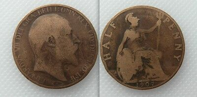 Collectable 1907 King Edward VII Half-Penny