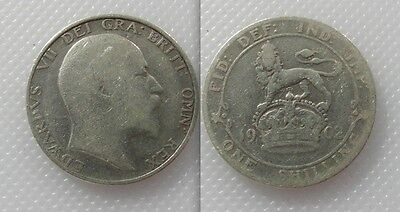 Collectable 1902 King Edward VII Silver Shilling