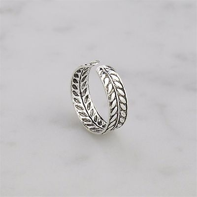 925 Sterling Silver Boho Laurel Leaf Branch Toe Ring! NEW!!