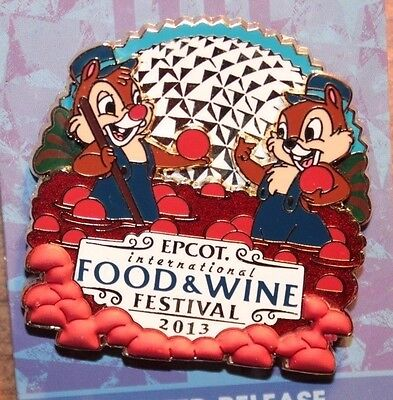 Disney WDW Epcot International Food Wine Festival 2013 Cranberries Chip Dale Pin