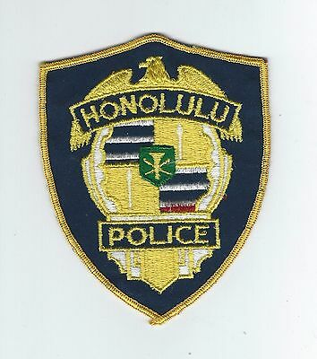 VINTAGE HONOLULU, HAWAII POLICE DEPT(5 INCH CHEESE CLOTH BACK)  patch