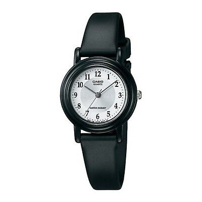 NEW Casio LQ139A-7B3 Womens Classic Analog Silver & White Dial Black Resin Watch