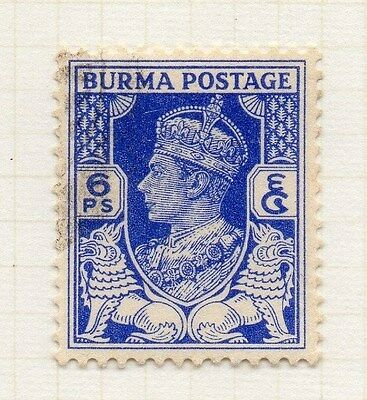 Burma 1939-40 Early Issue Fine Used 6p. 074289