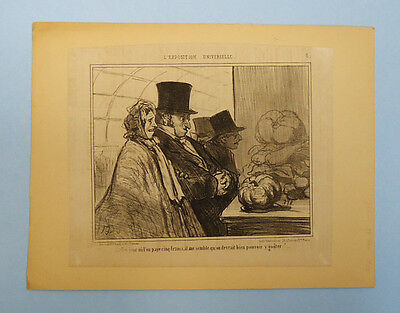 Antique 19Th Century French Newspaper Political Satire Cartoon Clipping 25/5/55