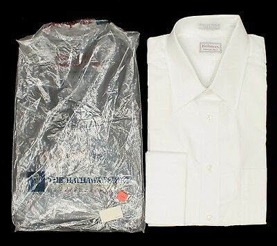 15-1/2 33 1980s Hathaway Dress Shirt, French Cuffs, New Vintage, Made in USA