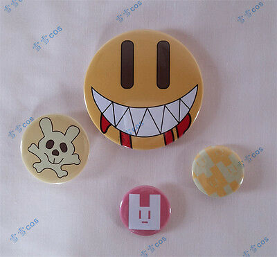 Anime Brooch Badges DMMD NOIZ Cosplay Cute Smile Face 4PCS Pins Set Dadge Button