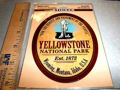 Yellowstone National Park Wyoming Beautiful Sticker Old Faithful! removable!