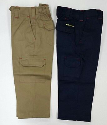 NEW KIDS  WORK PANTS KHAKI or NAVY SIZE 2 4 6 8 10 12