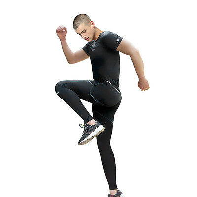3 Pcs Mens Quick Drying Compression Running Basketball Sports Fitness GYM Suit