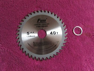 "125mm 5"" inch 40T TUNGSTEN Circular Cutting Saw Blade for cutting Wood, Plastic"