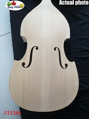 Hand carved white/unfinished student  3/4 upright bass  sandwich plate  #11166