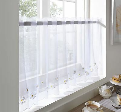 "Yellow Daisy Floral Restaurant Kitchen Cafe Curtain Drape Panel 59"" X 24"""
