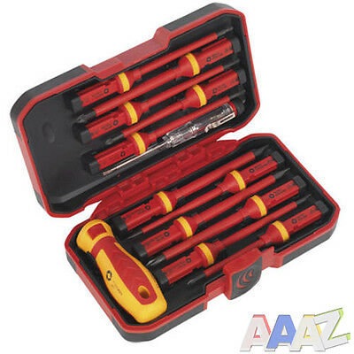 VDE Screwdriver Set Flat Philips Pozi Iinterchangeable Insulated Tool 1000 Volt