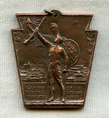Named WWI Service Medal Issued by Pennsylvania Railroad Co.