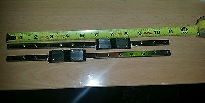NSK 9LU 275mm linear guides w/ 4 carraiges
