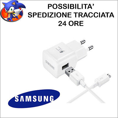 originale samsung carica batteria fast charger charging + cavo s6 s7 edge note 4
