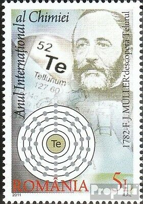 Romania 6561 (complete.issue.) unmounted mint / never hinged 2011 Year the Chemi