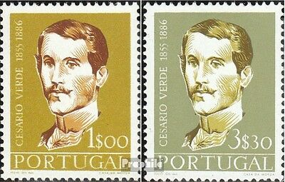 Portugal 860-861 (complete.issue.) with hinge 1957 Verde