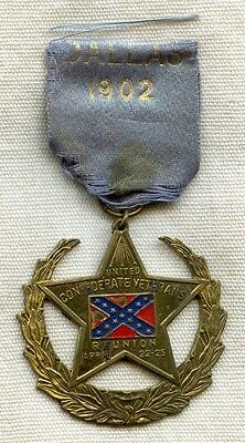 Scarce 1902 UCV (United Confederate Veterans) Reunion Medal from Dallas, Texas