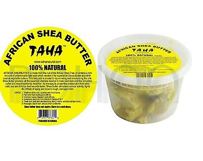 TAHA 100% NATURAL AFRICAN SHEA BUTTER (CHUNKY ) 10 Oz **100% ORIGINAL**