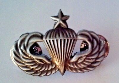 """U. S. Army Senior Paratrooper  Jump Wings Oxidized Hat Pin   1 1/4"""""""