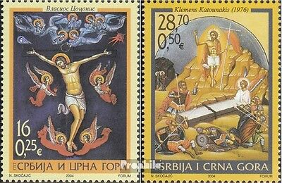 Yugoslavia 3190-3191 (complete.issue.) unmounted mint / never hinged 2004 Easter